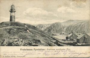 PC NORWAY, FRUHOLMENS FRYSTATION, JORDENS NORIGSTE, Vintage Postcard (b24947)