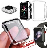 Apple iWatch 42mm* Series 3* Full Covered Clear Screen Protector TPU Case 3 PACK