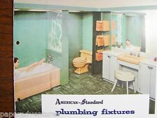 1954 AMERICAN STANDARD Bathroom Plumbing Fixtures Tubs Sinks Toilets VTG Catalog