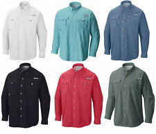 10c2d654 NEW COLUMBIA Men's PFG BAHAMA II Long Sleeve Fishing Shirts, XS-S-M-L-XL
