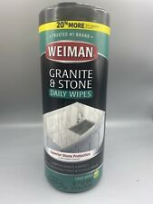 Weiman Granite & Stone Wipes (30) Count Crisp Apple Scent FAST FREE SHIPPING...