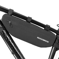 RockBros Waterproof Bicycle Triangle Bag Large Capacity Tube Frame Bag Black 3L