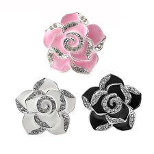2Pcs Dashboard Air Freshener Diamond Flower Clip Perfume Diffuser For Car Vehicl