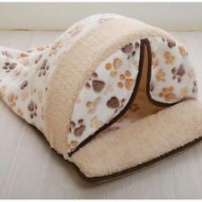 Pet Bed Warm Winter House Soft Fur Folding Kennel Dog Sleeping Pad Cat Mat Sofa