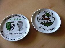 Jubiläums Sammelteller Tischtennis TV Rehau Herbert Kern Gedächtnisturnier