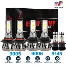 LED Headlights High Low + Fog Bulbs For Chevy Silverado 1500 2500 HD 2000-2006