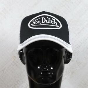 Mens Von Dutch Trucker Cap Black/White/White 114826 (G1) RRP £29.99