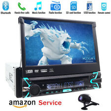 2019 New  HD Flip Out Single 1 Din Car Head Unit Stereo Radio DVD Player GPS Nav