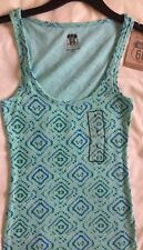 NEW Route 66 Womens S Cami Tank Top Pull Over Scoop Neck Ribbed Green Casual