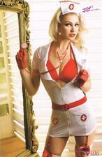Costume infermiera sexy donna Travestimento infermiera carnevale + STETOSCOPIO!!
