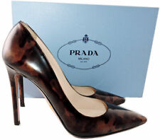 Sz 38 PRADA Como Collection Patent Leather Classic Pointy Toe Pumps Shoes