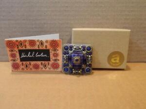 Michal Golan Designer Jewelry Brooch/ Pendant Jumble Pin Amethyst Stones & More