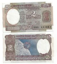 INDIEN INDIA 2 RUPEES 1976 LETTER A SIGN 85 UNC P 79 h