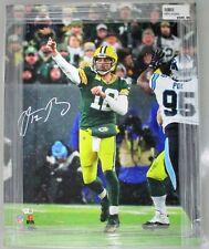 Packers AARON RODGERS Signed 16x20 Stretched Sports Canvas #5 AUTO - NFL MVP