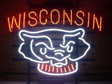 "New Wisconsin Badgers NCAA Beer Pub Bar Neon Sign 17""x14"""
