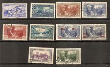 Lebanon - 1930 to 1947 - Range of Ten Different Pictorial stamps - Postally Used