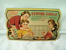 Vintage Advertising---SEWING CIRCLE Needle Book--Incomplete--1950's
