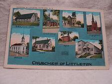 LITTLETON NH New Hampshire White Mountains Churches Multi-View Postcard