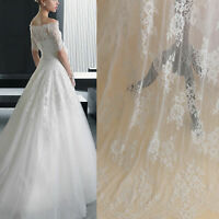 3 meters Chantilly Lace Fabric Eyelash Lace Tulle Wedding Dress Lace