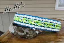 "Handmade Paracord Dog Collars FITS NECK SIZE 17""-18"" WATERPROOF BRAND NEW"