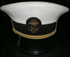 Us Naval Academy Cap Hat Vinyl Cover Made by Kingform Cap In Service 7 1/8�