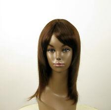 Perruque afro femme 100% cheveux naturel mi long châtain ref KOKO 02/6