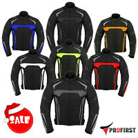 Men's Motorbike Waterproof Cordura Jacket Motorcycle Armours Textile Jacket Coat