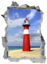 Leuchtturm Strand Meer Sand Wandtattoo Wandsticker Wandaufkleber E0468