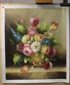 "Art oil painting on canvas still life realism flower 100% hand-painted  20""x24"""