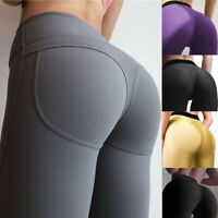 Women Yoga Gym Anti-Cellulite Sport Leggings Butt Lift Elastic Pants Trousers PF