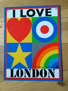 I Love London Limited Edition Tinplate By Sir Peter Blake