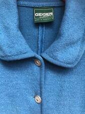 Damen Trachten Janker Jacke v. Geiger blau Gr. 34 S Walkwolle reine Schurwolle