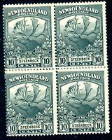 Newfoundland 22 Mint Block Of Four CAT $90