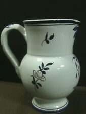 Beautiful Faience Decor Rouen Fait Main French Pottery Floral Creamer,France