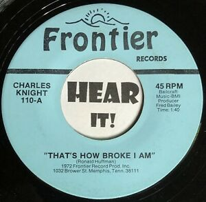 Memphis Hick Country Bopper Rockabilly 45 CHARLES KNIGHT Thats How FRONTIER hear