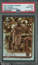 2019 Topps Chrome Sepia Refractor Jeff McNeil New York Mets RC Rookie PSA 10