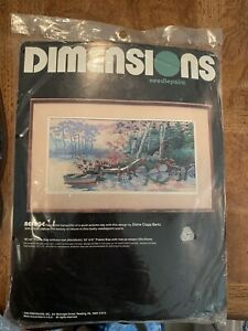 """Dimensions Needlepoint Kit Refuge 9"""" x 18""""  Wool - New In Package"""