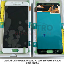 DISPLAY LCD TOUCH SCREEN ORIGINALE SAMSUNG GALAXY A3 2016 SM-A310F BIANCO WHITE