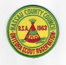 BOY SCOUT  ONTEORA S.R.  1963 PP  NASSAU COUNTY CNCL   NY