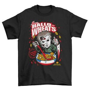 Myer HalloWheats Halloween Party Horror Print Comedy Funny Slogan T-shirt