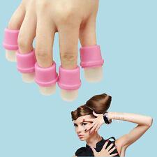10 pcs Wearable Nail Soak Soakers Polish Removers DIY Acrylic UV Gel Cap Tip Set