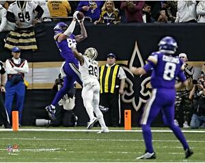 """Kyle Rudolph Minnesota Vikings Unsigned Playoff Moment GW TD 11"""" x 14"""" Photo"""
