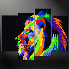 ASTRATTO LION SPLIT CANVAS WALL ART PICTURE PRINT