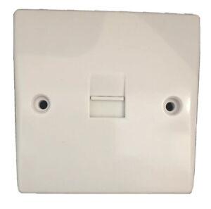 BT Master Telephone Socket IDC Terminals White Moulded Slim Round Edge AL8837