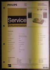 PHILIPS Service Dokumentation 22 GF 705, 12/1970, original + komplett