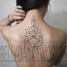 Large Beautiful lotus flower mandala tribal temporary tattoo tatouage waterproof
