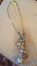aura silver and white necklace