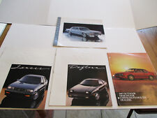 Lot of 4 1987 Plymouth & Dodge Sales Brochures & Advertising Design Flyer