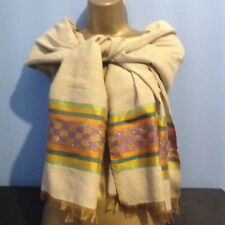 Ethiopian Traditional Netela/Scarves Multi colour Tilet  with a touch of gold