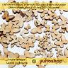 50pcs Butterfly Shape Mini Mixed Small Wooden piece Scrapbook Fairy Door ELF DIY